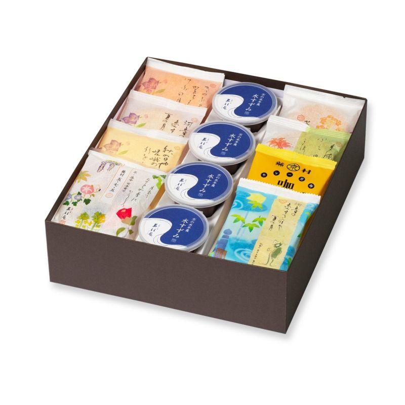 【夏季限定】人気お煎餅と水羊羹詰め合わせ「夏めぐり 化粧箱D」