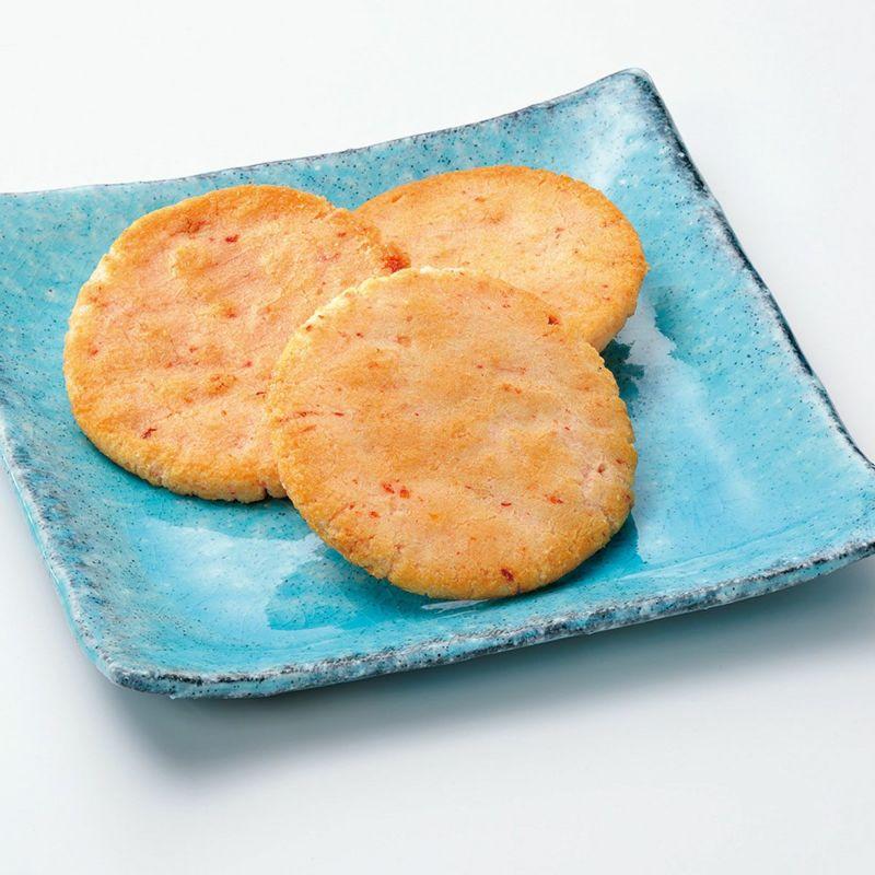 【ご愛食用袋】海老サラダせんべい えび名月 (1枚入×14袋) ※熨斗・包装不可