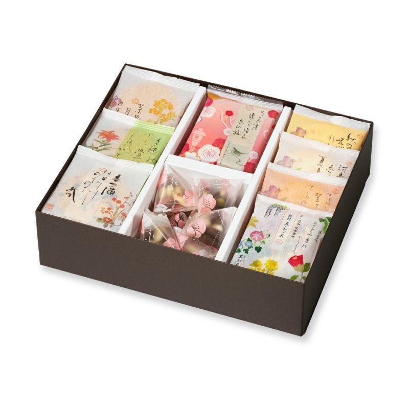 【冬季限定】人気お煎餅とチョコあられ詰め合わせ「冬めぐり D箱 41袋」