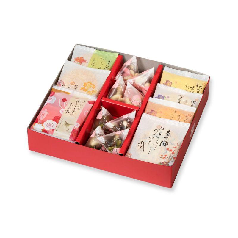 【冬季限定】人気お煎餅とチョコあられ詰め合わせ「冬めぐり M箱 19袋」