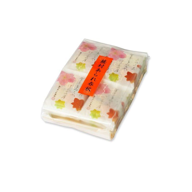 【四季のあられ8撰】蕪村あられ春秋 詰め替え袋 AS (8枚入×16袋)※熨斗・包装不可
